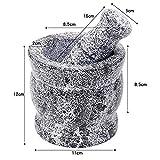 Conjunto de mortero y mortero molinillo de piedra de granito sólido molino de aguacate condimento especias especias ajo raíz de jengibre Mortero y mortero