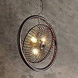 Pumpink Retro industria luci a sospensione regolabile in ferro battuto traforato personalità creativa lampada da soffitto a soppalco a sospensione luce paese americano arte fan lampadario per bar studio fattoria