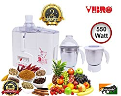 Vibro Juicer, Mixer and Grinder MV 2001-1 (Centrifugal) with 550 Watt (4 in 1)