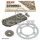 Kettensatz Honda XR 400 R 96-04, Kette RK 520 MXZ4 108, offen, 15/45