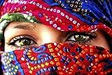 1art1 54793 Frauen - Arabische Augen Poster Kunstdruck 180 x 120 cm
