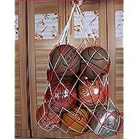 Dilwe Bolso de la Bola, Bolsa de Equipo Resistente de Nylon de los balones Netos del Control de la Malla con la manija Adicional del Lazo para Las Bolas de Deportes(1.2m)