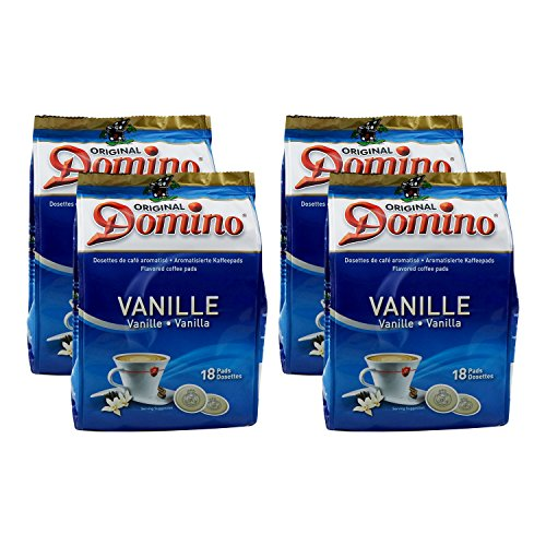 4x DOMINO Kaffeepads Vanille (á 18 Pads)