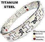 Titan Magnetische Energie Germanium Armband Power-Armband Gesundheit Bio 4in1Bio 170