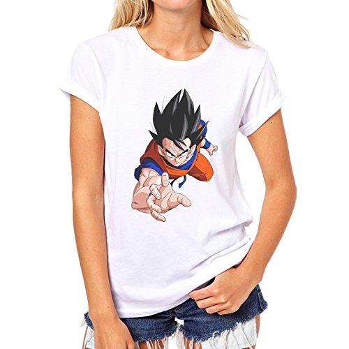 Dragon Ball Z Goku Angry Look Damen T-Shirt Weiß