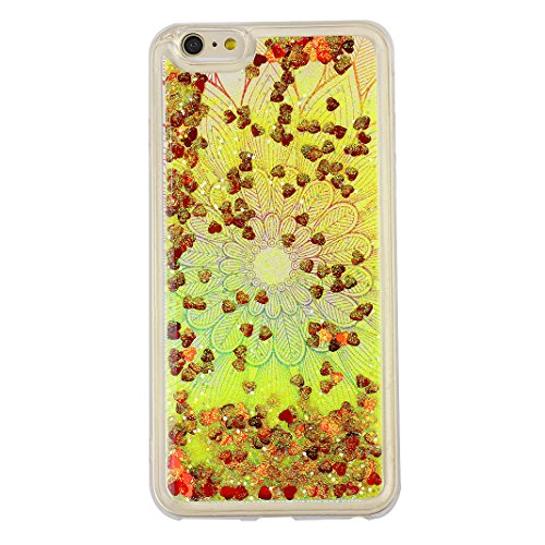Hülle iPhone 7 Treibsand Schale 4.7 Zoll, iPhone 7 Slimcase, Moon mood® Color Gradient Überzug Plating Case für Apple iPhone 7 Durchsichtige Handyhülle 3D Creative Case Mode Bunten Transparente Krista Stil 3