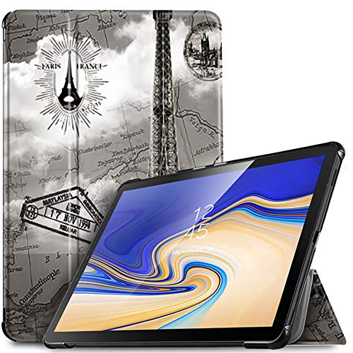 IVSO Hülle für Samsung Galaxy Tab S4 T830/T835, Slim Schutzhülle mit Auto Aufwachen/Schlaf Funktion Geeignet für Samsung Galaxy Tab S4 T830/T835 10.5 Zoll 2018, Brown Tower