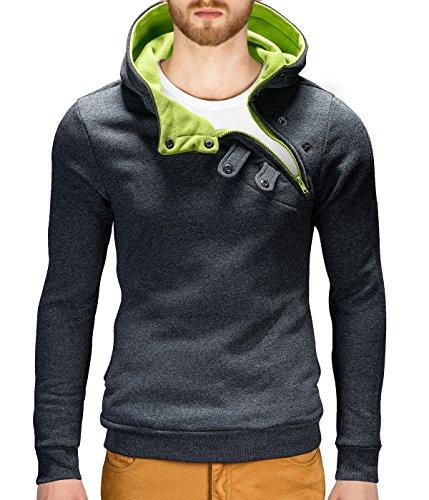 MT Styles Pullover Hoher Kragen Hoodie