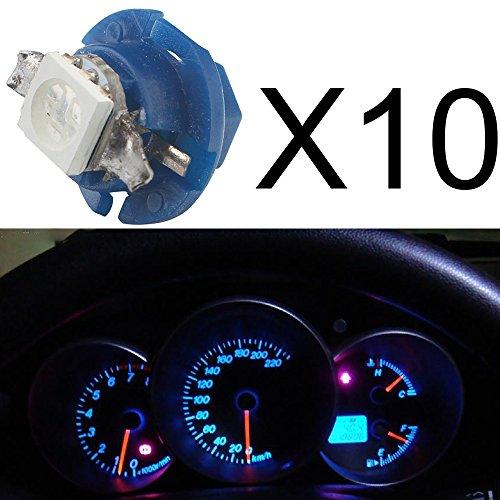 Bombillas Grandview para salpicadero de coche, 10unidades, LED T5B8.450501SMD, 12V