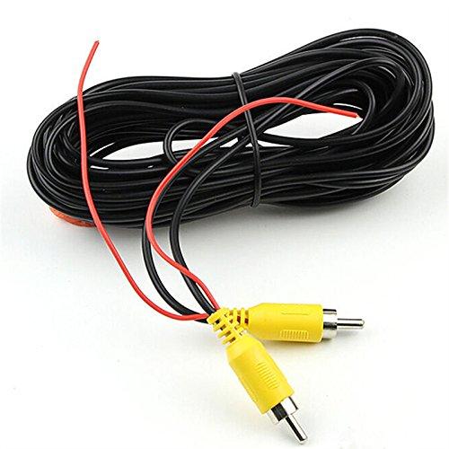 tkstar, RCA Video-Kabel, Auto Reverse Rear View Kamera Video-Kabel mit Erkennung Draht, (10m/33ft) geeignet für Auto LKW Bus Van