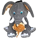 Sofix Elephant With Monkey Plush Soft Toy - Best Quality On Amazon 17 Inch