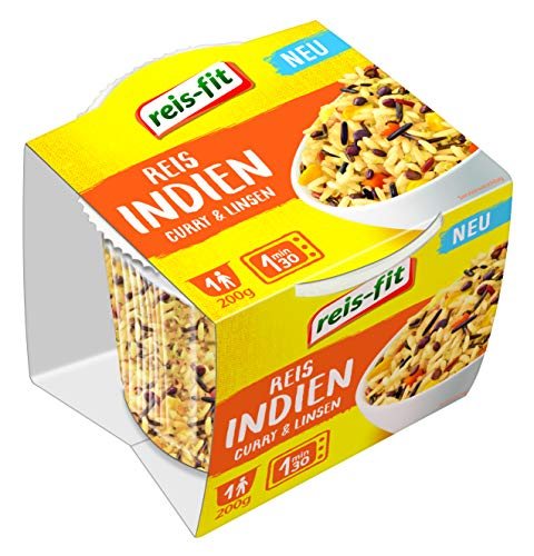 reis-fit Cup 'Indien' - Reis mit Curry & Linsen, 200 g