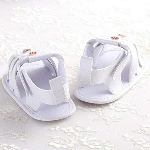 Clode® Bambin fille Crib chaussures Soft semelle anti-dérapant Baby espadrilles sandales (0~ 6 mois, Jaune) Or