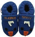Adelheid Kleiner Spatz Babywollschuh, Baby Jungen Krabbelschuhe, Blau (steinblau/225), 21/22 EU