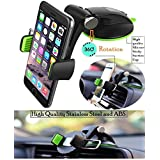 Eightiz SH15 Premium Quality Silicone Sucker Car Mobile Phone Holder/Car Mount 360° Rotation with Ultimate Reusable Suction Cup for Car Dashboard and Windshield/Glass