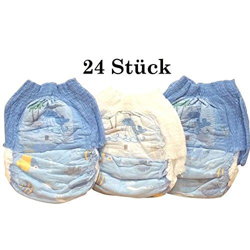 Schwimmwindel Schwimmhöschen Badewindeln Baby Einweg Schwimmwindeln Junge Mädchen HilKeys12-48 Stück (M (6-11kg), 24 Stück)