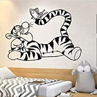 xingzhi Tigger Piglet Wall Sticker Vinyl Wall Decal Baby Room Large Wall Stickers Home Decoration Accessories For Nursery Fashion 42X58Cm