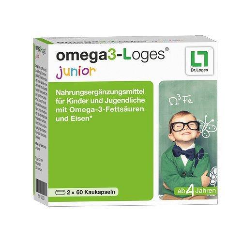 Omega 3-loges junior Kaudragees 120 stk