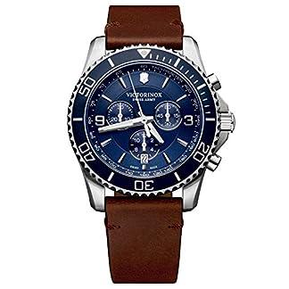 Victorinox Hombre Maverick Chronograph – Reloj de Acero Inoxidable de Cuarzo analógico de fabricación Suiza 241865