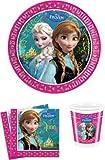 Disney Frozen Die Eiskönigin Partygeschirr - Partyset Becher Teller Servietten