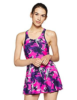 Speedo Female Swimwear All Over Print Racerback Swimdress with Boyleg