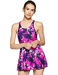 Speedo Female Swimwear All Over Print Racerback Swimdress with Boyleg