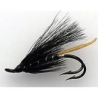 Lachsfliegen und Hermelinschwänze, Doppelhaken Größen 4-10; Packung von je acht GB-Qualität gebunden Fliegen; Packung # 165