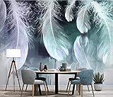 Fototapete 3D Tapete Die Nordeuropäischen Abstrakte Tinte Und Feder Hintergrund Mauer 3D Effekt Vliestapete Wandbilder Wanddeko