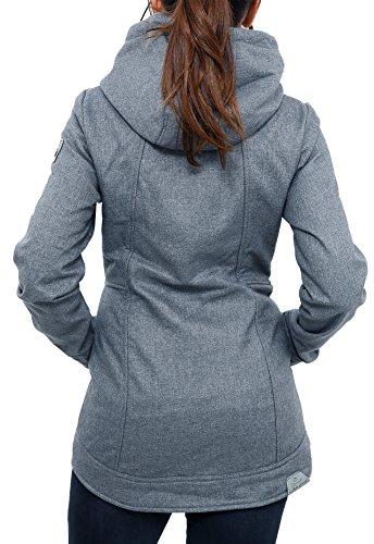 15fb10da6819ac RAGWEAR Damen Jacke ENRICA BONDED 1721-70011-3013 Dark Grey Melange ...