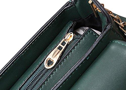 Tracolla Messenger Borsa Borsa Fotografica Minimalista Moda Piccolo Pacchetto Quadrato Green