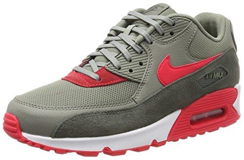 Nike Damen WMNS Air Max 90 Sneaker, Mehrfarbig (River Rock/Sirena Red-Dark Stucco-White), 41 EU