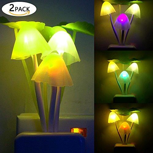 mit Zur Dämmerung Abenddämmerung Licht sensor,Pliz licht mit Farbwechsel für Babys Zimmer Schlafzimmer Wohnräume Weihnachten Geburtstags Geschenk ()