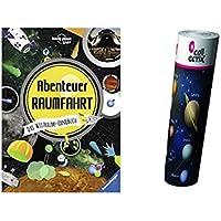 Aventura: El libro de mano espacial + niños espacial planetas Póster by collectix