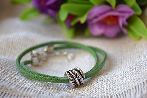 Blatt Armband Pandora Charme Leder