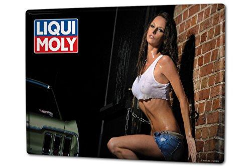 cartel-letrero-de-chapa-xxl-chica-sexy-liqui-moly-liqui-moly-patineta
