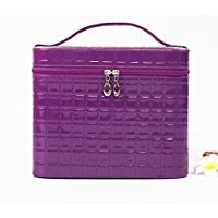 Sac cosmétique coréen de grande capacité joli petit sac carré Sac cosmétique portable de stockage simple cosmétique cas cosmétique , purple