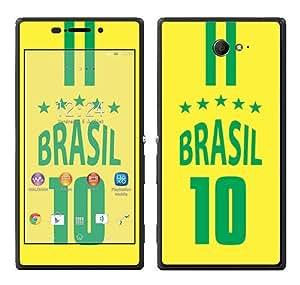 Royal Sticker RS.73177 Autocollant pour Sony Xperia M2 avec Motif Brésil Champion Monde