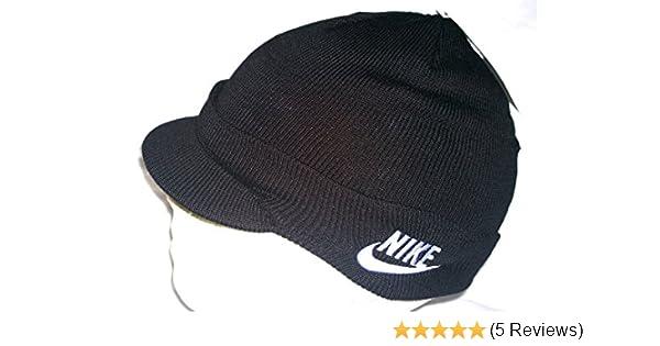 Nike Child Unisex Peak Beanie Hat 340697 010 Black Size M L  Amazon.co.uk   Sports   Outdoors cff77bb0c877