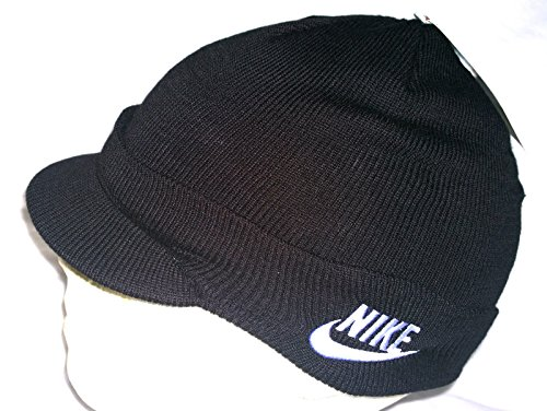 Nike Nike Child Unisex Peak Beanie Hat 340697 010 Black Size M/L