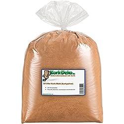 10 Liter Korkmehl / Korkpulver / Korkstaub (Sehr fein) (Cork Dust, Pop up Boilie) für Basteln und Hobby (Modellbau / Landschaftsgestaltung)