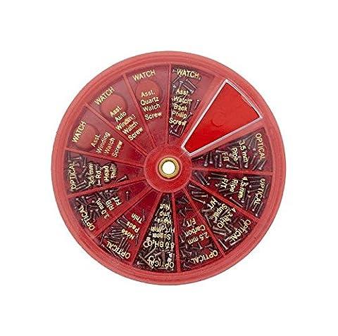 120x Tiny assortis montre et optique spectacle Vis Lunettes Outil de réparation.