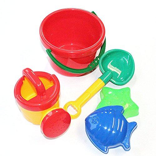 KarnevalsTeufel Sandspielzeug, Eimergarnitur 5-TLG. für Kinder, Strandspielzeug, Urlaubsset