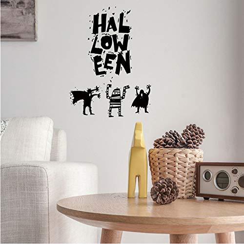 Wiederverwendbar Wiederverwendbare Halloween Hexe Hintergrund Dekoriert Wohnzimmer Schlafzimmer Wandaufkleber Sensenmann Wandaufkleber