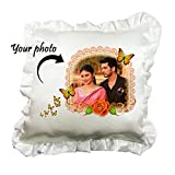 Romantic Personalized Frill Cushion Pill...