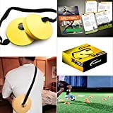 Trained Sports Set of 24 Soccer Cones, 2 Inch, Free Shoulder Carry Strap and Free Agility Drills eBook (Yellow)