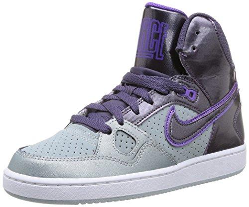 Nike 616303 020 Wmns Son Of Force Mid Damen Sportschuhe - Basketball Mehrfarbig (Lt Magnet Grey/Dark Raisin) 38 (Basketball Force)
