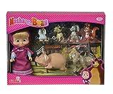 Simba 109301020mini Doll set Masha e i suoi amici animali pezzi
