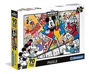 Clementoni 35061 Puzzle 500 Pieza(s) - Rompecabezas (Dibujos, Niños y Adultos, Mickey Mouse, Mickey Mouse, Niño/niña
