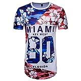 Maillot de Football,OverDose Été Homme Rétro 3D T-shirt à Imprimé Sport Casual Manches Courtes Slim Top Blouse (L, Bleu)