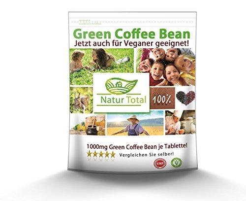 Green Coffee Bean Extract á 1000mg 250 Kapseln. Grüner Kaffee Extrakt Diät